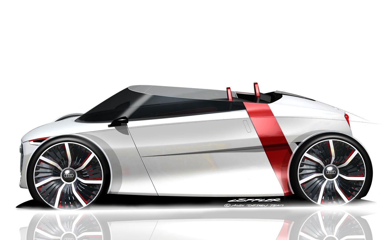 Audi Urban Concept Spyder Left Side Sketch1