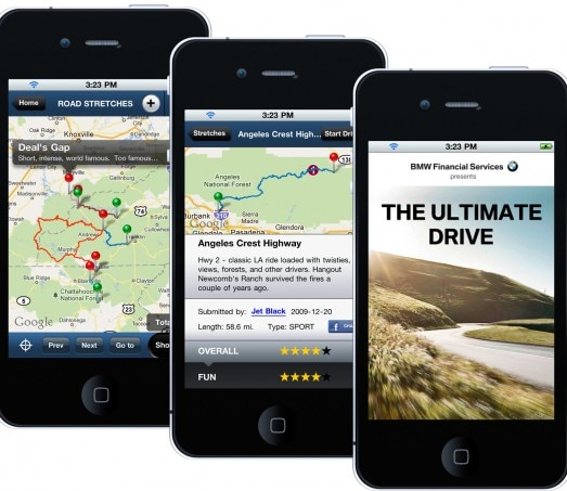 BMW Ultimate Drive App Iphone 523x453