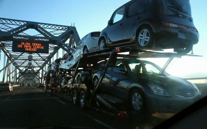 Nissan Transport Truck Oakland Bay Bridge1 660x413