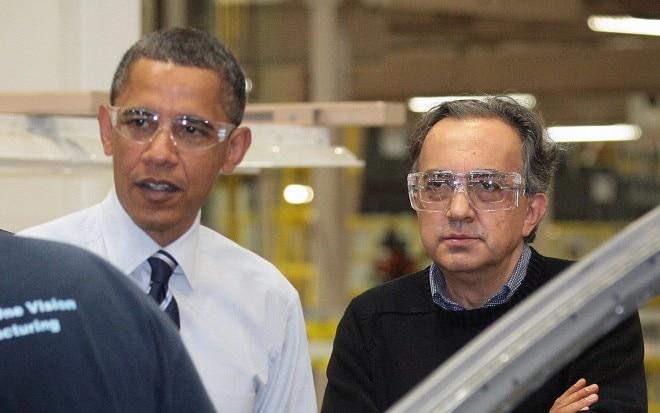 Sergio Marchionne Barack Obama Plant Tour 660x413