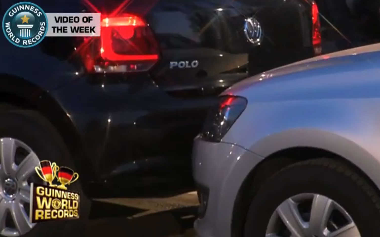 VW Polo Guinness World Record Parallel Parking 71