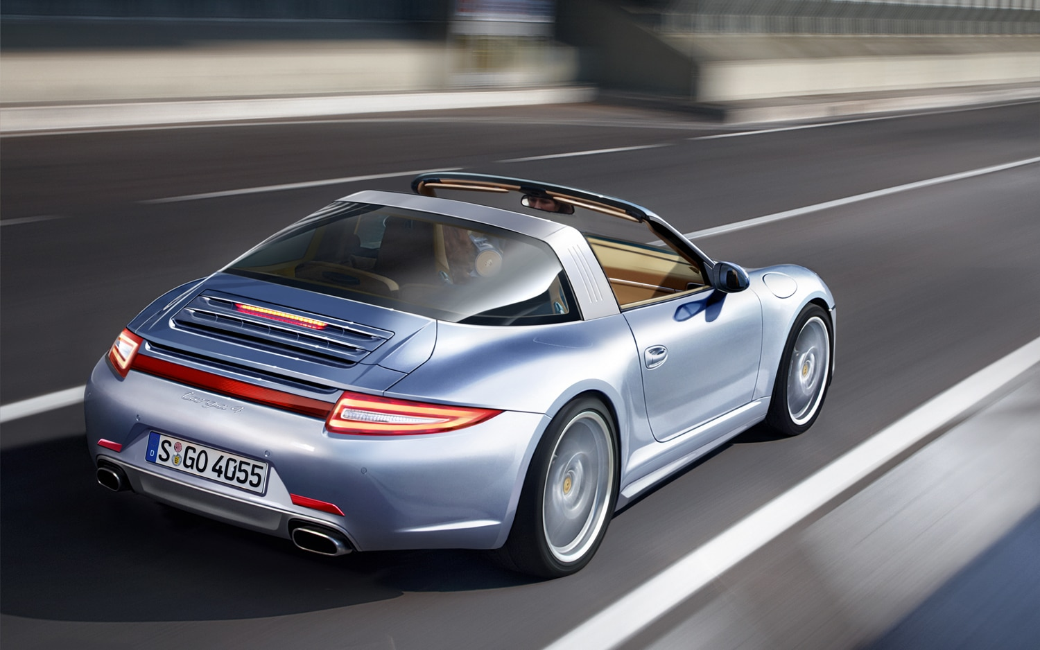 Porsche 911 Targa Rear Right View