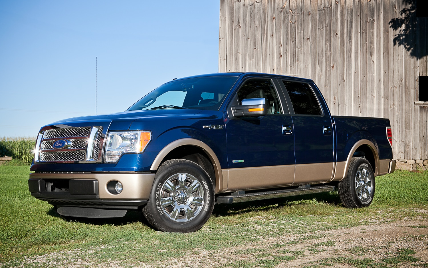 2011 Ford F 150 Lariat EcoBoost 4x2 Supercrew Front Left Side View1