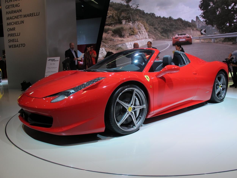 2012 Ferrari 458 Spider Front Three Quarter1