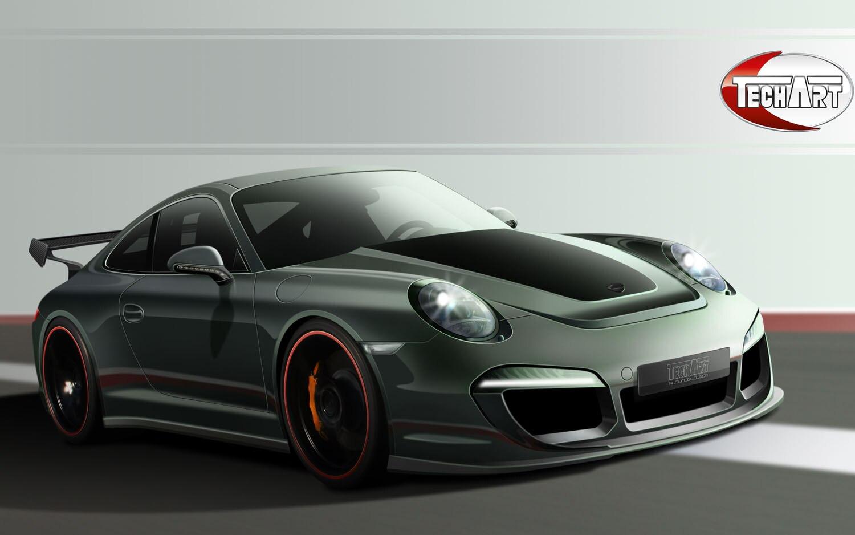 2012 Porsche 911 Techart Front Three Quarter1