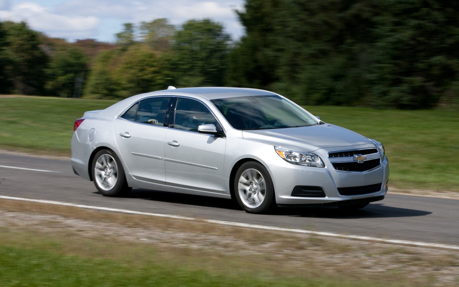 2013 Chevrolet Malibu ECO Front Three Quartes In Motion1