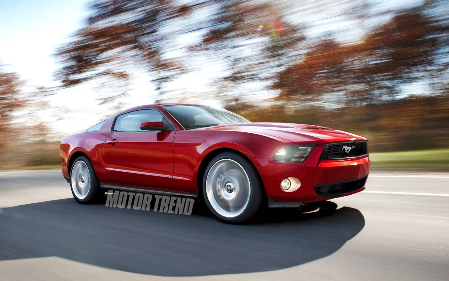 2015 Ford Mustang Front Three Quarter Illustration1