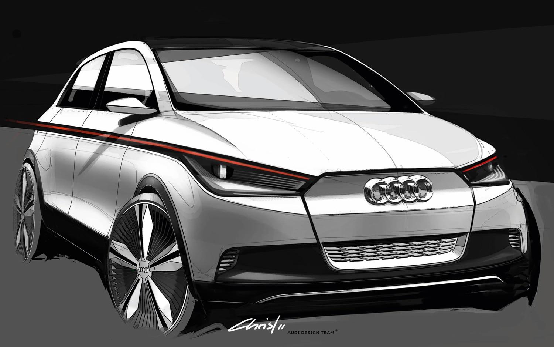 Audi A2 Concept Front View Sketch1