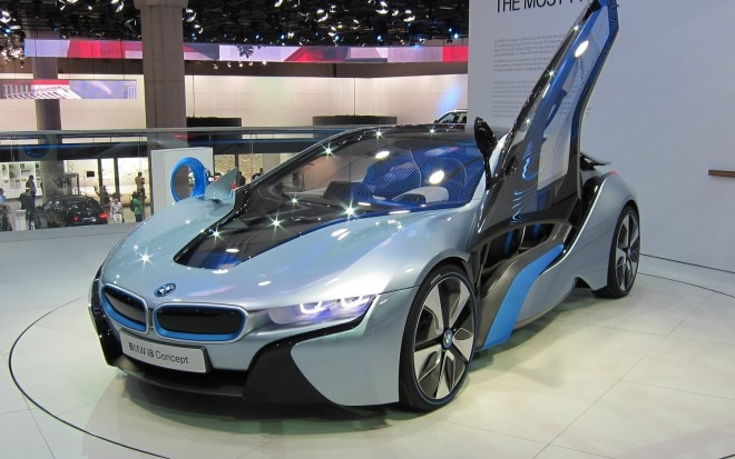 BMW I8 Concept Front Three Quarters View 21 660x413