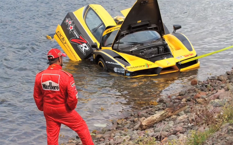 Ferrari Enzo Targa Newfoundland Rally Crash2