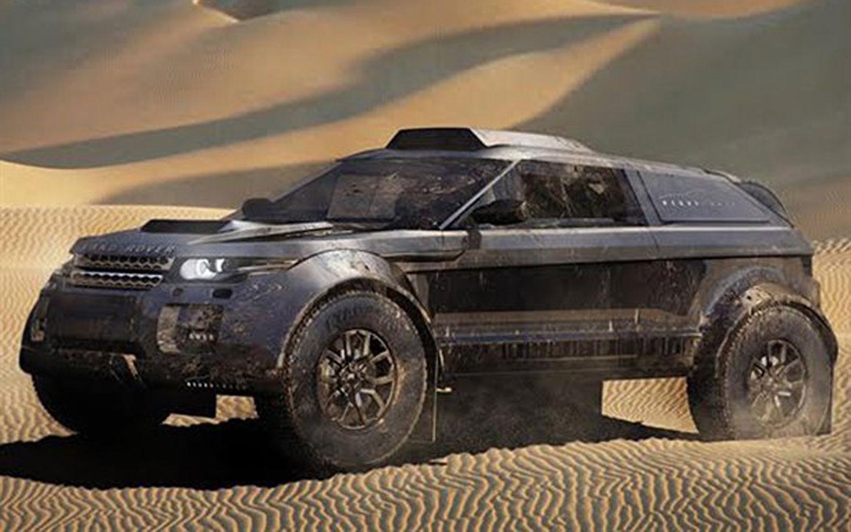 Land Rover Range Rover Evoque Dakar Black Front Three Quarter1