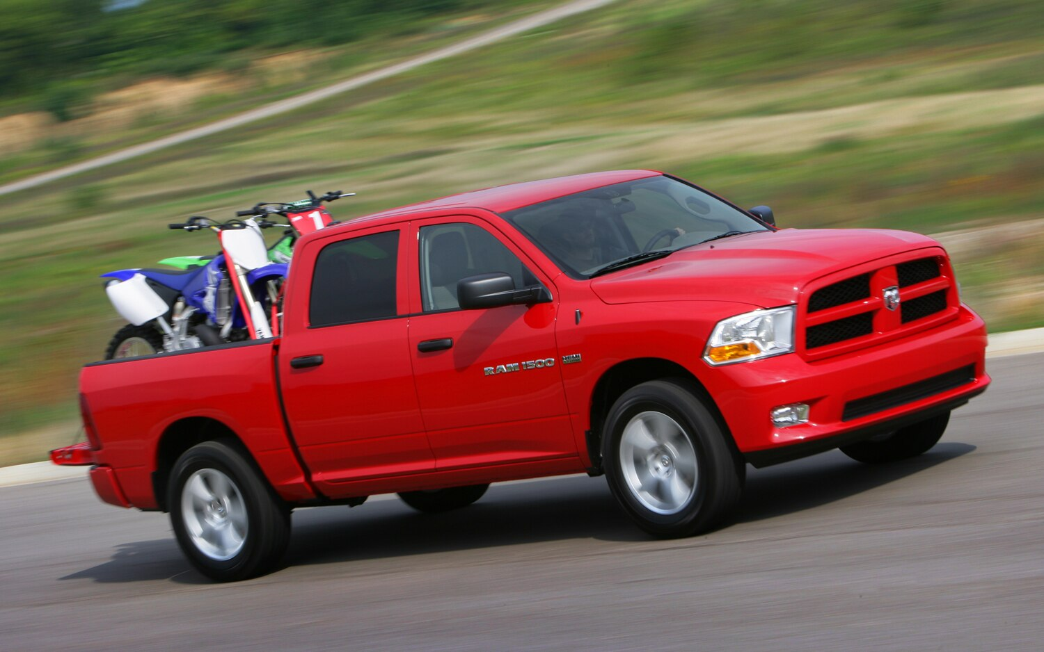 Ram 1500 Tradesman HD Loaded With Motorcycles1