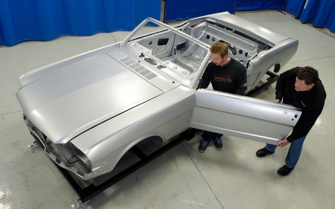 1965 Ford Mustang Convertible Body Top View1 660x413