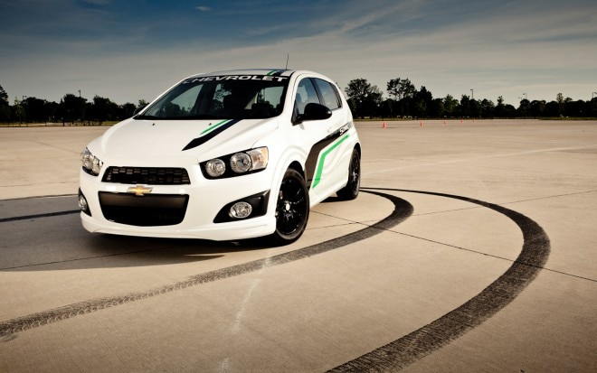 2012 Chevrolet Sonic Hatchback With Accessories Front Three Quarter1 660x413