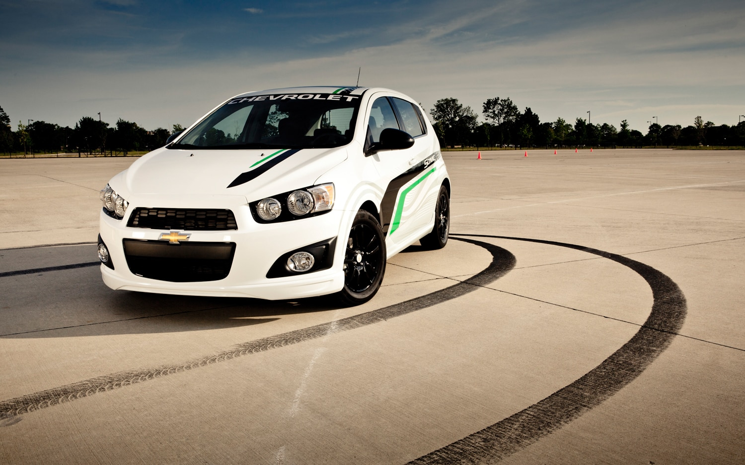 2012 Chevrolet Sonic Hatchback With Accessories Front Three Quarter1