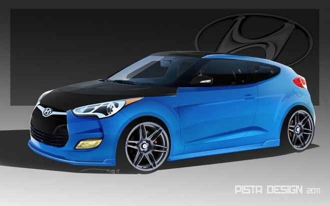 2012 Hyundai Veloster PM Lifestyle Rendering Front Three Quarter1 660x413