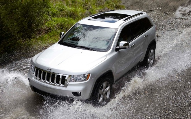 2012 Jeep Grand Cherokee Front Three Quarter Water1 660x413