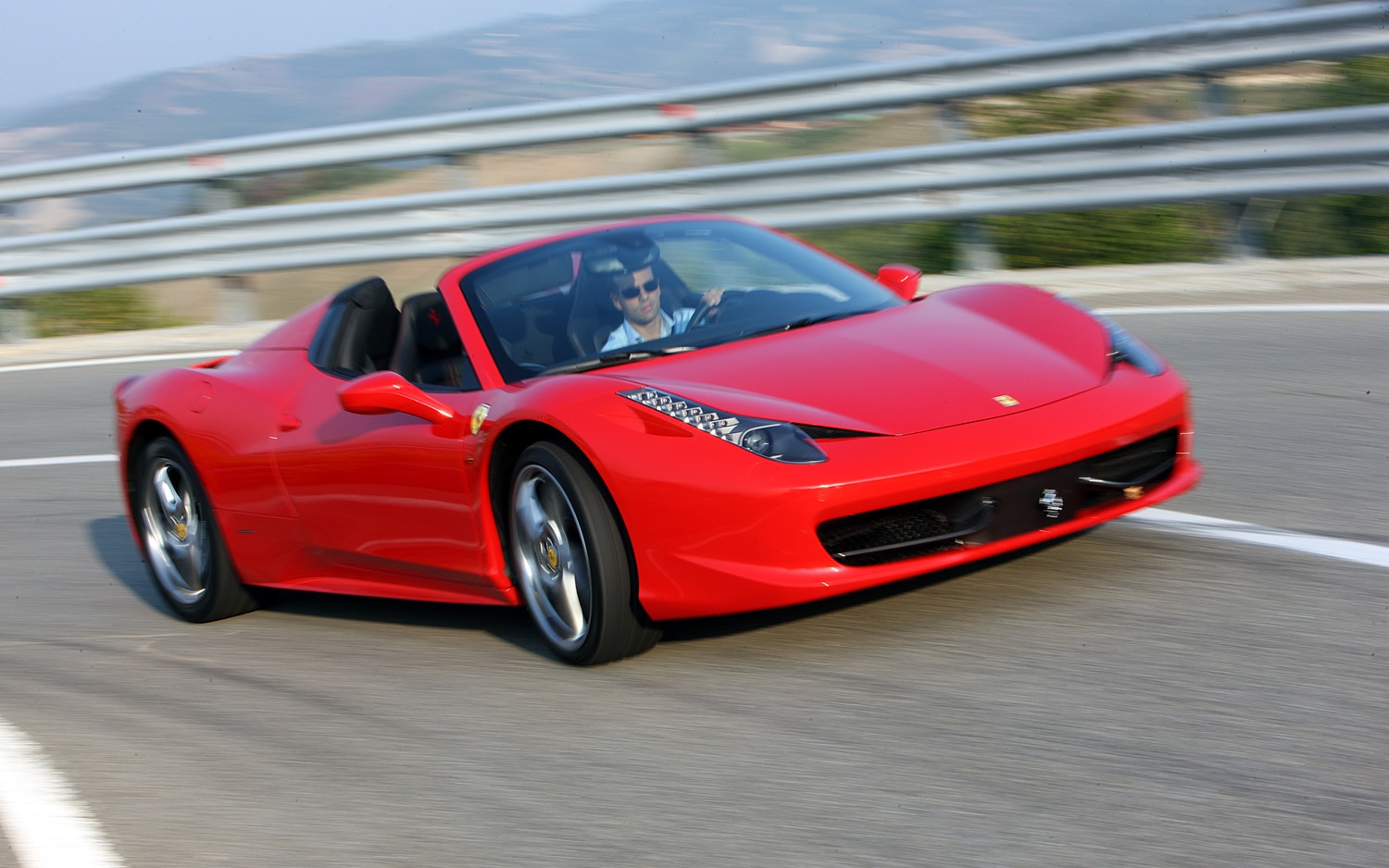 2012 Ferrari 458 Spider Front Right View1