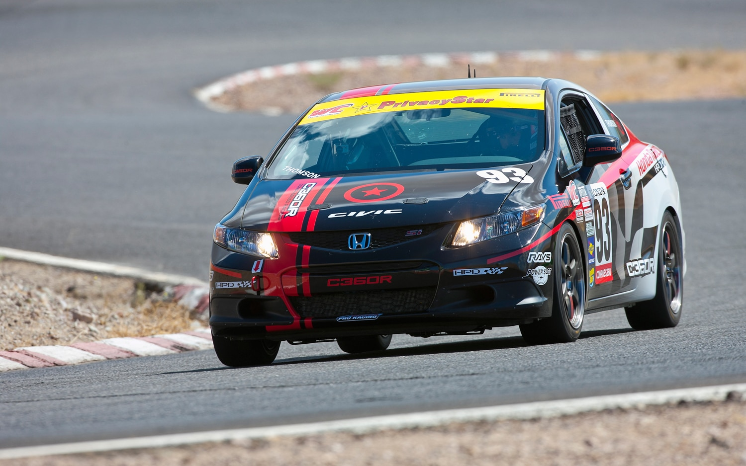 2012 Honda Civic Si Race Car HPD Front Left View1
