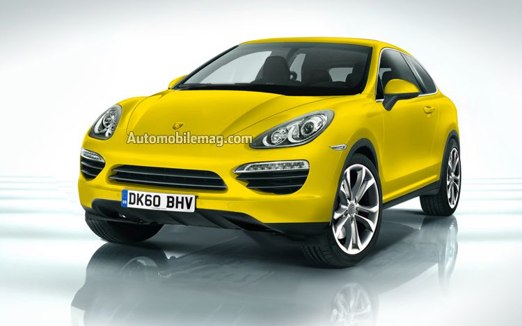 2014 Porsche Cajun Crossover Illustration Front1