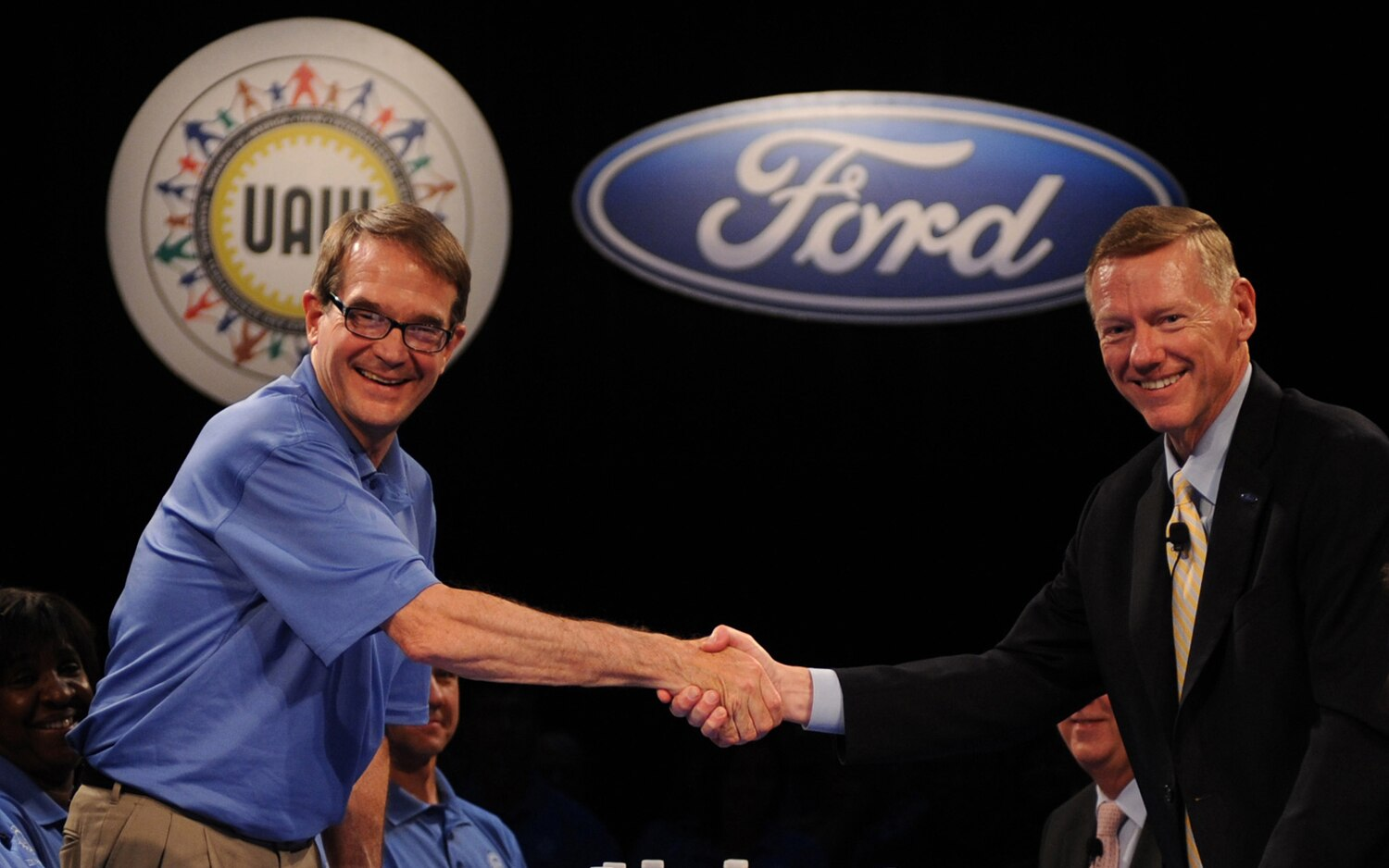 Ford CEO Alan Mulally And UAW President Bob King1