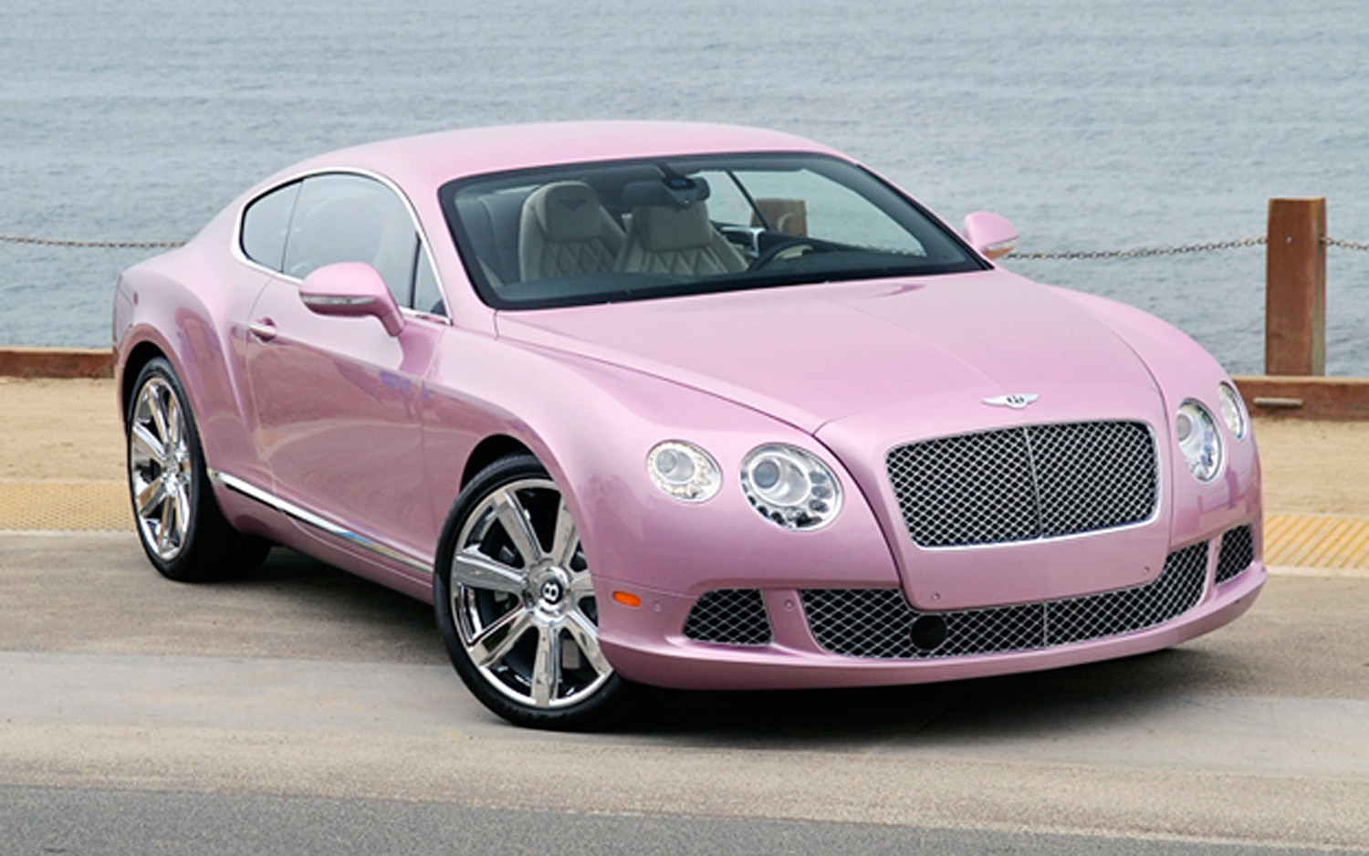 Passion Pink 2012 Bentley Continental GT Front Three Quarter1