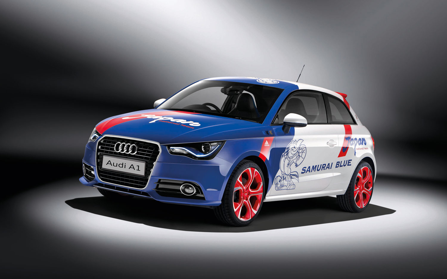 2012 Audi A1 Samurai Blue Front Three Quarter
