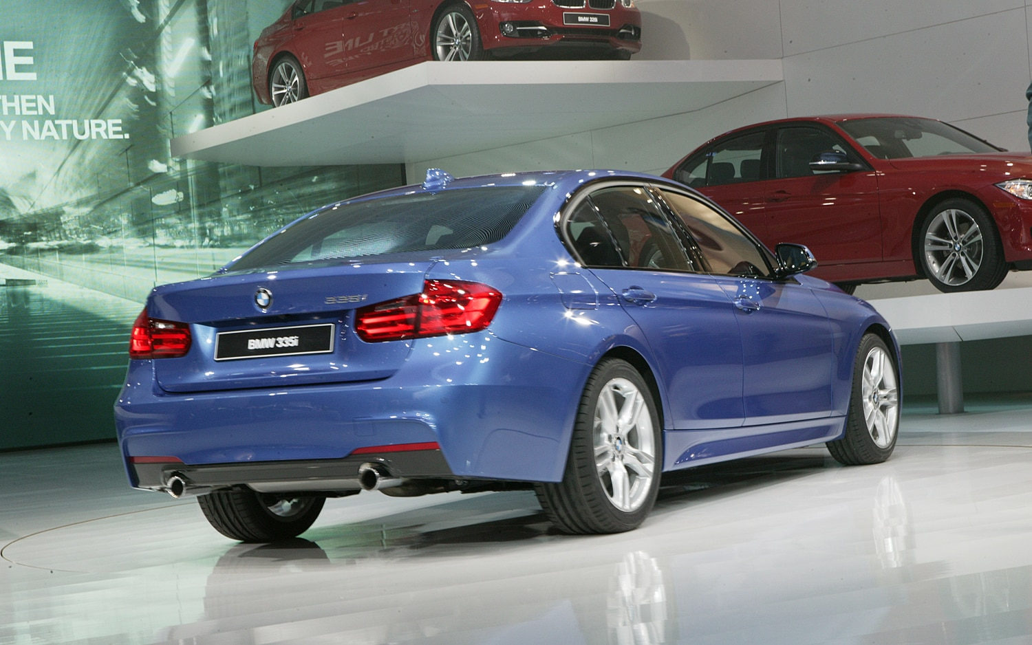 2012 BMW 3 Series Rear Three Quarters1
