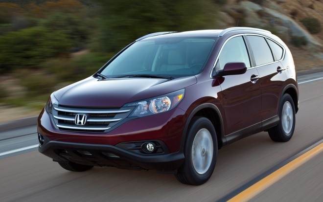 2012 Honda CR V EX L AWD Front View In Motion1 660x413
