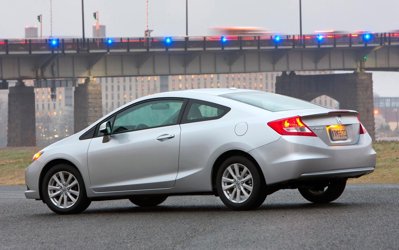 2012 Honda Civic EX L Coupe Rear Three Quarter1