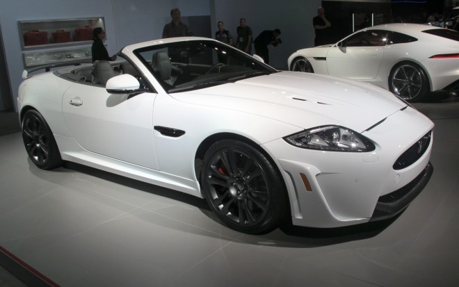 2012 Jaguar XKR S Convertible Front Three Quarter View Live1 660x413
