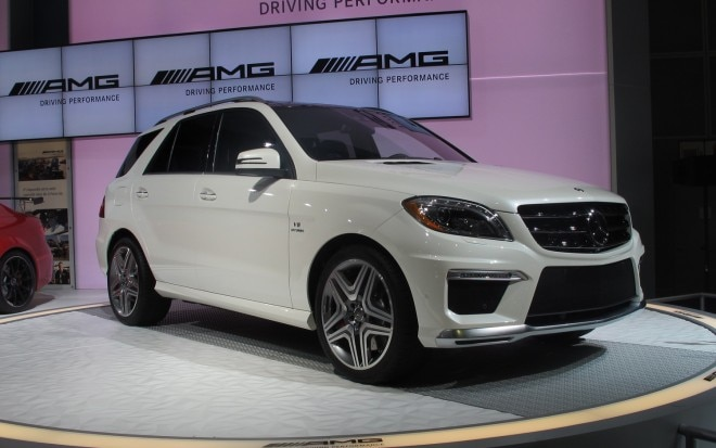 2012 Mercedes Benz ML63 AMG Front Three Quarters View Live1 660x413