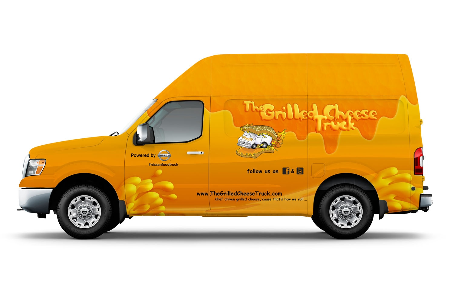 2012 Nissan NV High Roof Grilled Cheese Truck Concept Left Side1