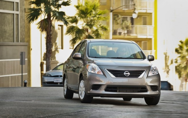 2012 Nissan Versa Sedan Front1 660x413