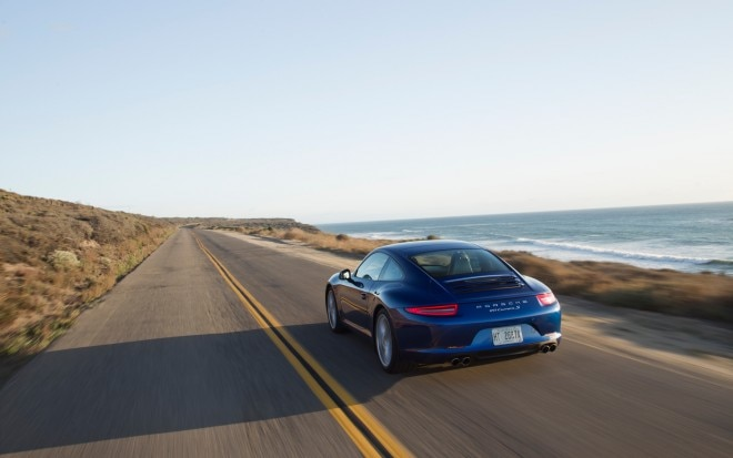 2012 Porsche 911 Carrera S Aqua Blue Rear In Motion1 660x413
