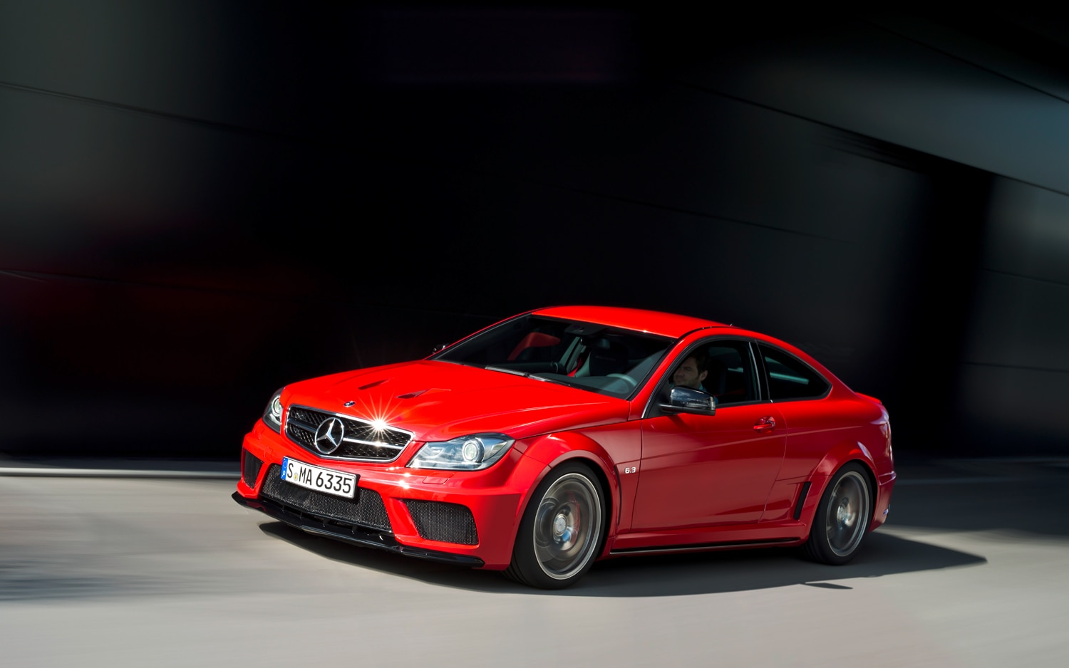 2012 Mercedes Benz C63 AMG Coupe Black Series Front Left Side View1