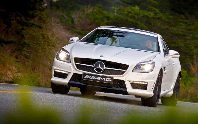 2012 Mercedes Benz SLK55 AMG Front View 21 660x413