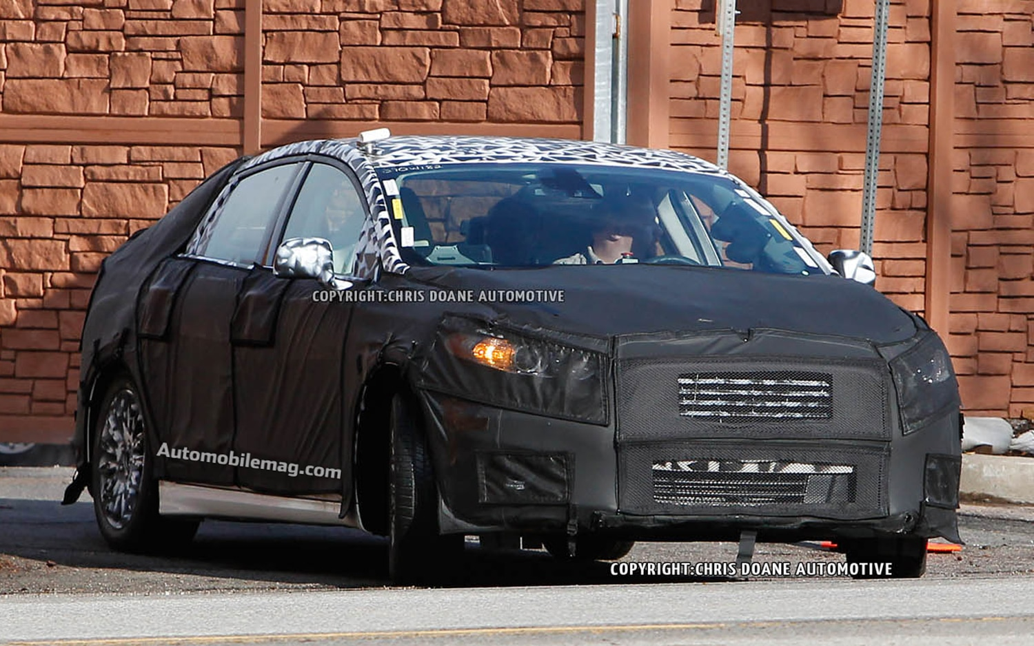 2013 Ford Fusion Front Three Quarter Spy Shot1