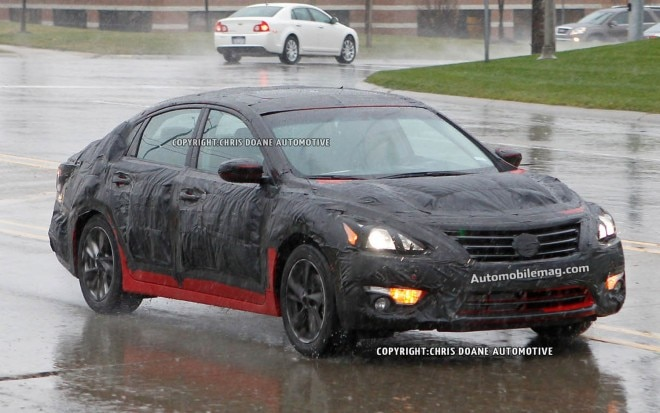 2013 Nissan Altima Spy Shot Front Three Quarter 21 660x413