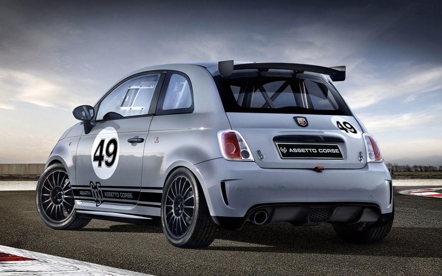Abarth 695 Assetto Corse Rear Three Quarter1
