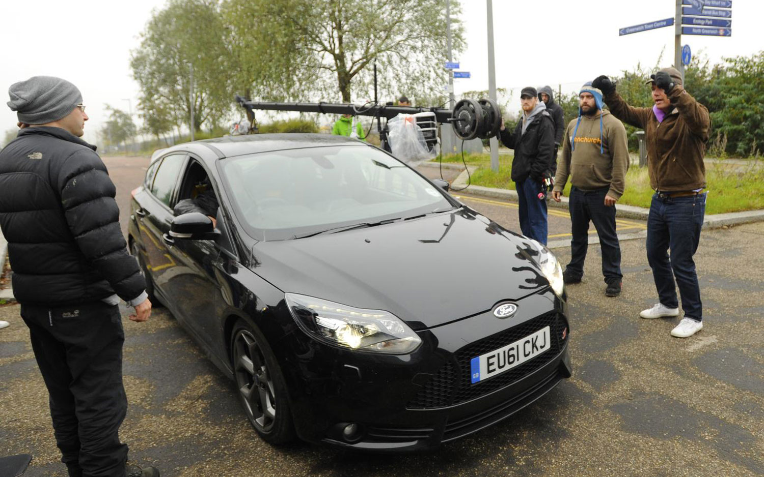 Ford Focus ST On Sweeney Set Front Three Quarter1