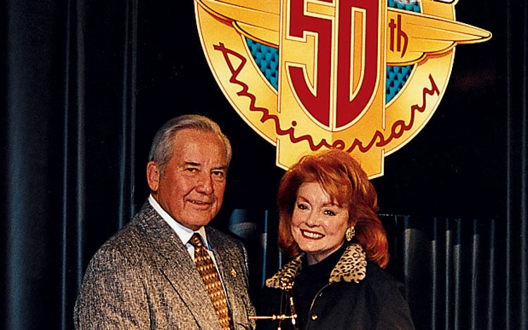 Margie Petersen With Husband At 50th Anniversary Of Motor Trend