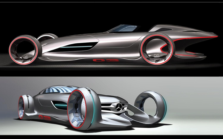 Gentlemen start your cameras l a auto show design for Mercedes benz silver lightning