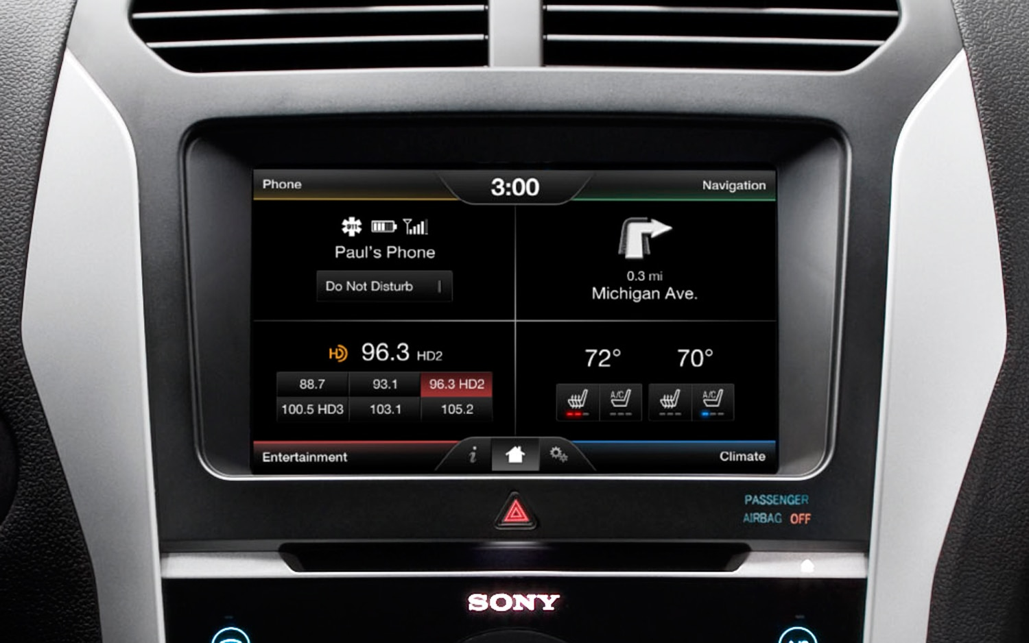 MyFord Touch Home Screen1