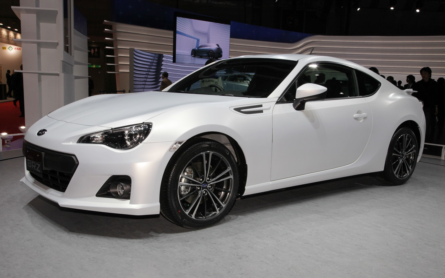 Subaru BRZ Matte White Front Three Quarter