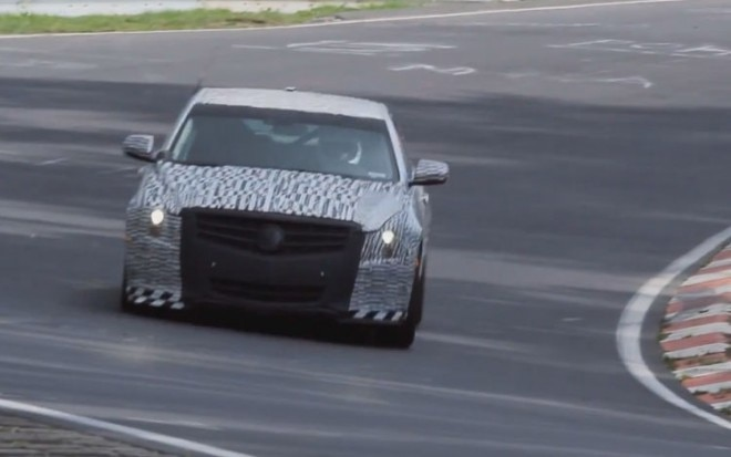 2012 Cadillac ATS Mule Front View Nurburgring11 660x413