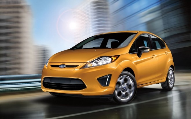 2012 Ford Fiesta Front Three Quarter Yellow1 660x413