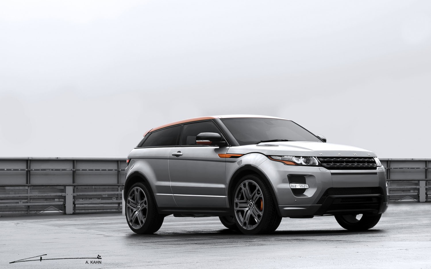 2012 Range Rover Evoque Project Kahn Front Three Quarter1