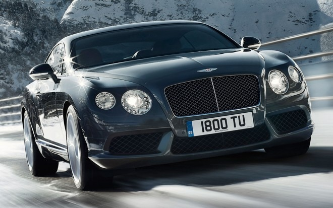 2012 Bentley Continental Gt V8 Front Three Quarters View In Black1 660x413