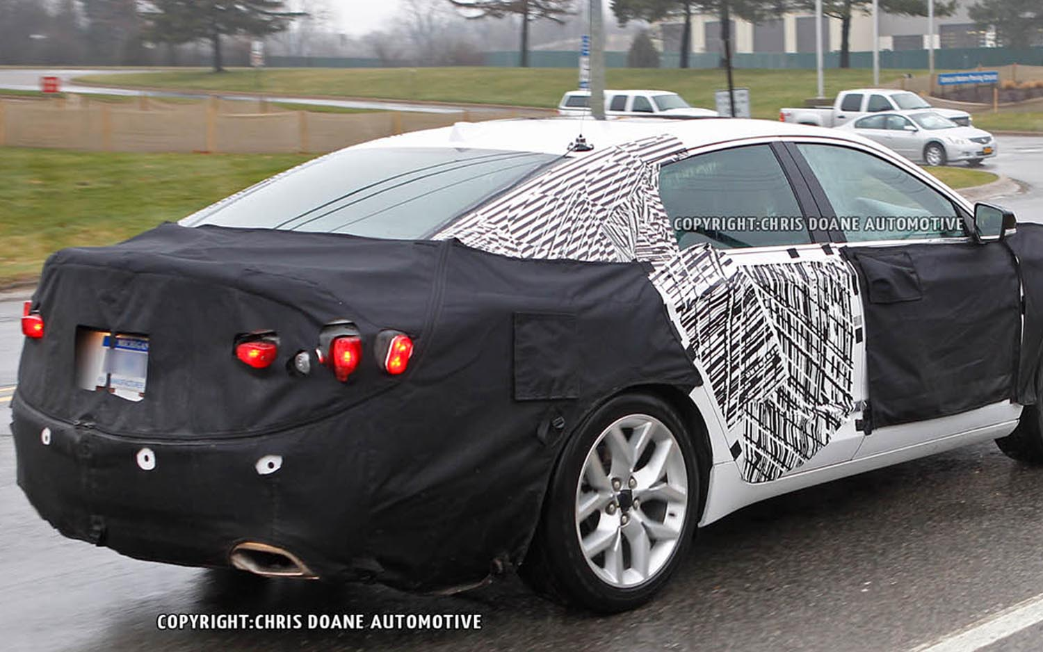 2013 Chevrolet Impala Spied Rear Three Quarter AMAG1